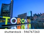 toronto city hall and toronto... | Shutterstock . vector #546767263