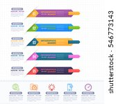 colorful infographics shapes... | Shutterstock .eps vector #546773143