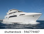 a large private motor yacht... | Shutterstock . vector #546774487