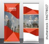 roll up business brochure flyer ...   Shutterstock .eps vector #546778027