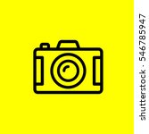photo camera icon. isolated sign