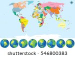 political world map with earth... | Shutterstock .eps vector #546800383