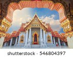 marble temple of bangkok ...   Shutterstock . vector #546804397