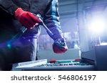 instrument in auto repair... | Shutterstock . vector #546806197