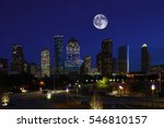 A Moon Rising Over Houston ...