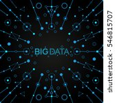 vector big data background.... | Shutterstock .eps vector #546815707