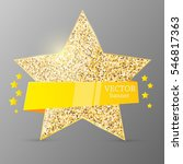 gold star with yellow banner.... | Shutterstock .eps vector #546817363