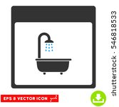 shower bath calendar page icon. ... | Shutterstock .eps vector #546818533