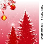 illustration with firs under... | Shutterstock .eps vector #546824857