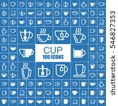 coffee and tea cup vector icons. | Shutterstock .eps vector #546827353