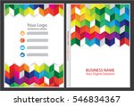 annual report cover design | Shutterstock .eps vector #546834367