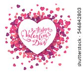 happy valentine's day card | Shutterstock .eps vector #546842803