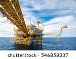 offshore construction platform... | Shutterstock . vector #546858337