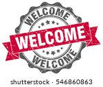 welcome. stamp. sticker. seal.... | Shutterstock .eps vector #546860863