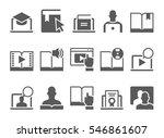 online education e learning... | Shutterstock .eps vector #546861607