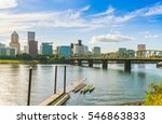 portland city scape on the day... | Shutterstock . vector #546863833