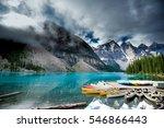 beautiful moraine lake in banff ... | Shutterstock . vector #546866443