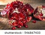 broken pomegranate. pomegranate ... | Shutterstock . vector #546867433
