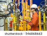 offshore oil and gas... | Shutterstock . vector #546868663