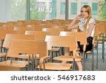 businesswoman contemplating at...   Shutterstock . vector #546917683