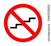 no stair up sign.  | Shutterstock .eps vector #546925003