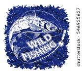 salmon blue logo. illustration...   Shutterstock .eps vector #546925627