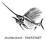 marlin skeleth vector... | Shutterstock .eps vector #546925687