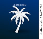 palm tree icon vector... | Shutterstock .eps vector #546928783