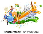 illustration of indian... | Shutterstock .eps vector #546931903