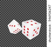 white dice with red dots on... | Shutterstock .eps vector #546936247