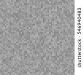 Gray Pixel Seamless Pattern. ...