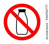 no milk bottle sign.  | Shutterstock .eps vector #546940777