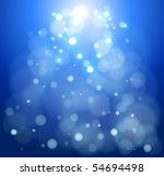 blue bokeh abstract light background. Vector illustration - stock vector