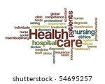 health care   word cloud | Shutterstock .eps vector #54695257