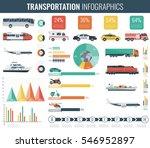 transportation infographics set....