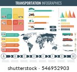 transportation infographics set.... | Shutterstock .eps vector #546952903