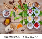 various of thai food cooking... | Shutterstock . vector #546956977