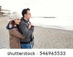 portrait of young couple on... | Shutterstock . vector #546965533