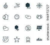 set of 16 eco icons. includes... | Shutterstock .eps vector #546972727