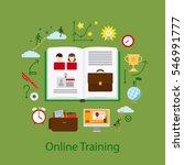 online education and webinar... | Shutterstock .eps vector #546991777