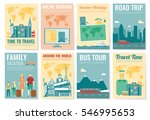 travel and tourism brochure set.... | Shutterstock .eps vector #546995653