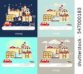 four types of different winter...   Shutterstock .eps vector #547000183