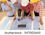 multi ethnic group of engineers ... | Shutterstock . vector #547002643