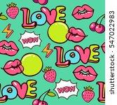 pop art seamless vector pattern ... | Shutterstock .eps vector #547022983