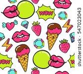 trendy pop art seamless vector... | Shutterstock .eps vector #547023043