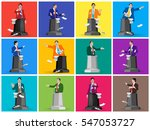set stock vector of public... | Shutterstock .eps vector #547053727