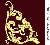 vintage baroque corner scroll...   Shutterstock .eps vector #547061833