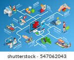 digital health isometric... | Shutterstock .eps vector #547062043