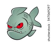 angry piranha clipart | Shutterstock .eps vector #547069297