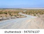 Road On Maranjab Desert In Iran